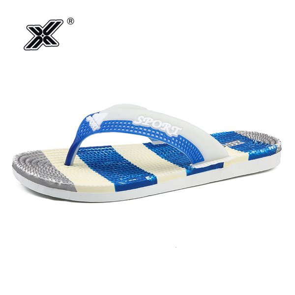 Men Slippers Summer Fashion Korea Beach Massage Checker Sole 2019 Men Flip Flops EVA Bathroom Skin well PVC Slippers homme heren
