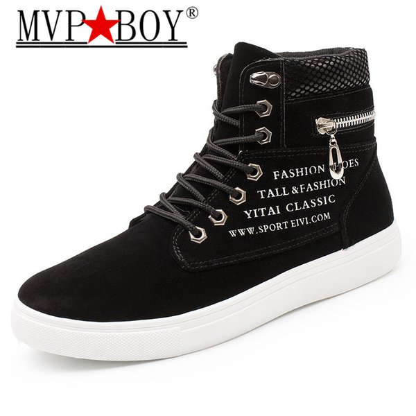 MVP BOY New Brand Flat Heel Men'S Sneakers Spring Autumn Ankle Flat Male Casual Shoes British Style Men Canvas Shoes Plus 38-47
