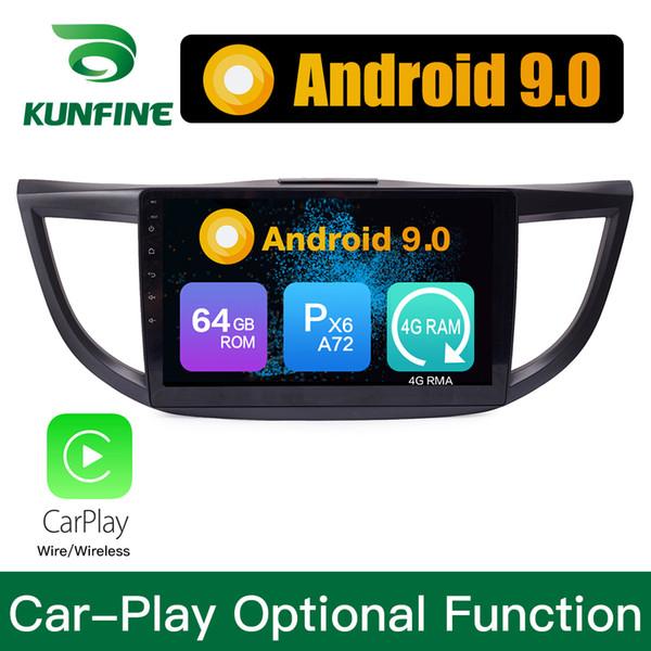 Android 9.0 Ram 4G Rom 64G PX6 Cortex A72 Car DVD GPS Multimedia Player Navigazione Stereo per Honda CRV Radio 2012-2015