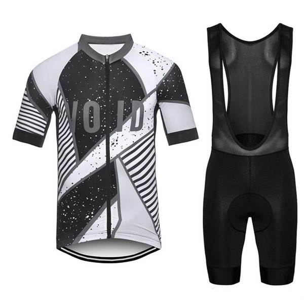2019 Void Cycling Clothing Men Set Bike Clothing Breathable Bicycle Wear Short Sleeve Cycling Jersey Bib shorts set Ropa Ciclismo 09128