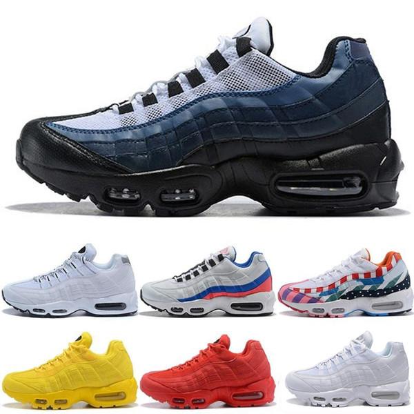 Drop Shipping Chaussures de course en gros Hommes Coussin 95 OG Sneakers Bottes 95s authentiques Nouveau sport discount Chaussures de marche Taille 40-46