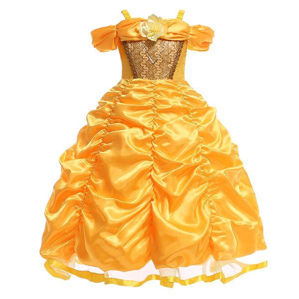 9bd2ff532 Compre Niñas Princesa Bebé Vestidos De Fiesta Para Niñas Vestido Elegante  Boda Bola Vestidos De Verano Infant Todder Niños Vestido Para Niñas 3 4 ...