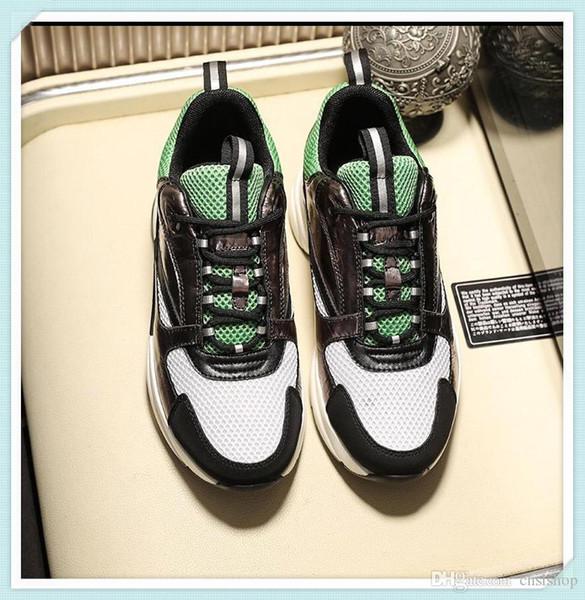 calçados esportivos casuais 2019F dos homens ao ar livre sapatos de viagem dos homens de alta qualidade com micro-padrão, entrega rápida com caixa original