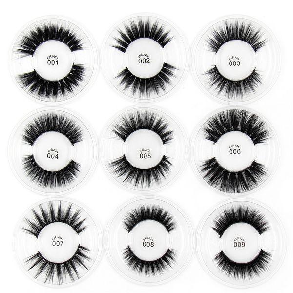 2019 Lashes 3d Silk Eyelashes 100% Handmade Eye Makeup Thick Fake False Eyelashes Rainbow Packing 30 Styles