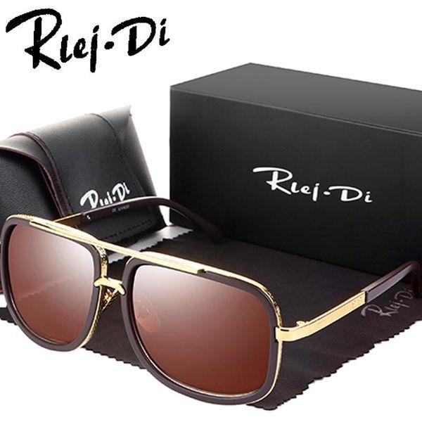 Classic Square Sunglasses Women Flat Top Grandmaster Sunglasses Men Brand Design Celebrity Mirror Clear Lens Eyewear Male UV400