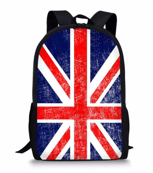 British Flag 3D Printing Children Girls School Bags For Teenage Casual Daily laptop Backpacks P55