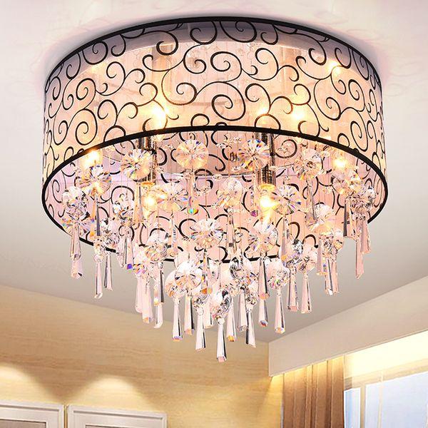 Forma redonda Elegante Araña de cristal Elegante Lámpara colgante Moderno Cristal LED Araña Lámpara de techo Lámpara de cristal Lámparas colgantes
