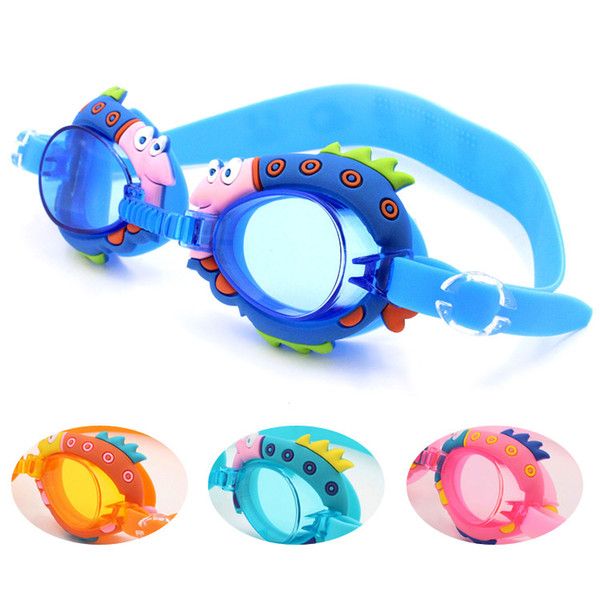 top popular Children Cartoon Adjustable Non-Fogging Swim Eyewear Swimming Goggles Baby Child Anti-ultraviolet Swim Pool Swimming Goggles 2021