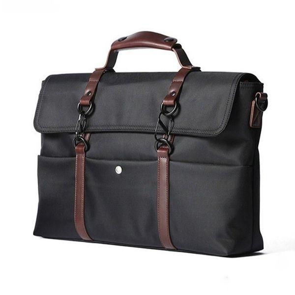 2018 New Composite Fiber Waterproof Briefcase Men Business Handbag Large Capacity Laptop Bags For Men Casual Travel Shoulder Bag