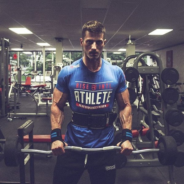 New Mens Summer Gyms Fitness Brand T -Shirt Crossfit Bodybuilding Slim Shirts Printed O -Neck Short Sleeves Cotton Tee Tops Clothing