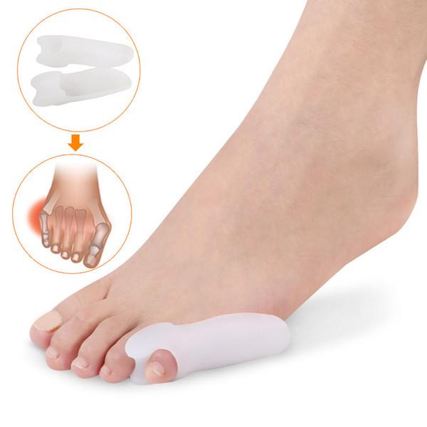 100pairs силиконовый гель для ног пальцы Большой мизинец Сепаратор Thumb Валгус протектор мозолей регулятор Hallux Valgus Guard по уходу за ногами