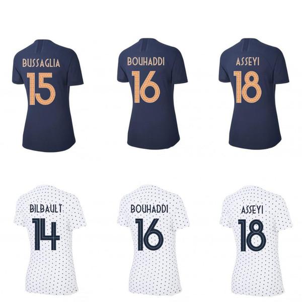 2019 Frauen WM Heim Auswärts Fußball Trikots Fußball Trikot Fußball Uniformen Tops Fußball Trikots Maillot Frankreich