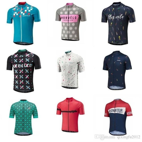 2019 Morvelo Team Cycling Short Sleeve Jersey For Men Mountain Bike Clothes Summer Quick Dry Mtb Bicycle Shirt Camisa De Ciclismo Y060502
