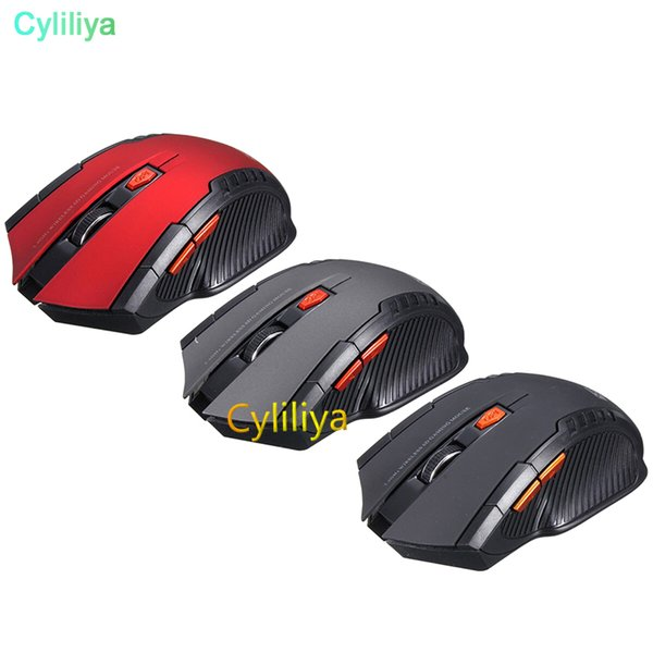 New 2.4Ghz Mini Portable Wireless Mouse USB Optical 2000DPI Adjustable Professional Game Gaming Mouse Mice For PC Laptop 50pcs/lot