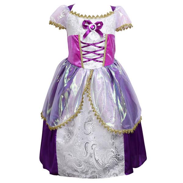 2017 Yeni Prenses Şık Çiçek Kız Elbise Gelinlik komünyon Yarışması Parti Mezuniyet Balo Elbise