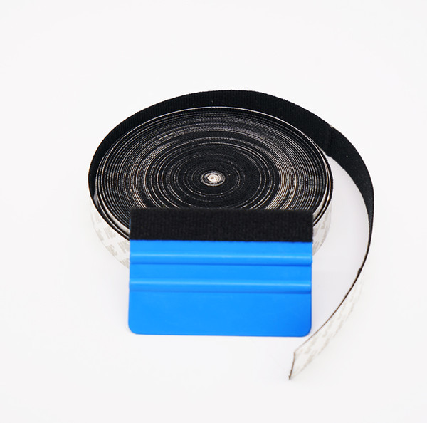 Bande de feutre noire 3M pour raclette avec de la colle auto-adhésive 3M pour ruban d'outil d'emballage de voiture de racloir