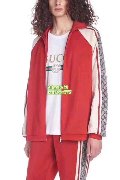 Surdimensionné Jersey technique Survêtements Jogging Pantalon Deux Pièces Lettres Imprimer Le haut de gamme personnalisé Sweat Veste + Pantalon Pantalon Décontracté Ensembles