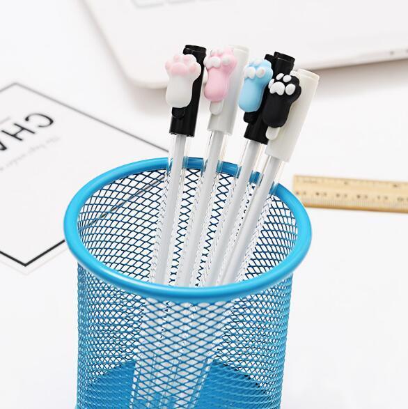 2019 Sıcak satış Özgünlük Sevimli ayı pençe Nötr kalem siyah 0.5mm Okul Malzemeleri Siyah su kalem Okul Ofis Arzı