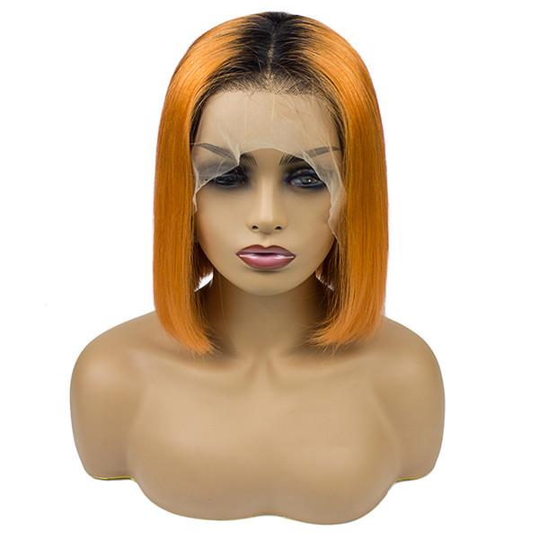 Full Natural 100% Virgin Human Hair Natural Straight Wigs Chinese Lace Front Human Hair Wigs 180% Density 10'' 12'' 14'' 16''