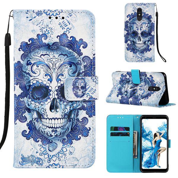 Custodia in rilievo 3D per LG Stylo 5 Custodia a portafoglio Custodia in pelle per LG Stylo 5 Cover per telefono Fundas