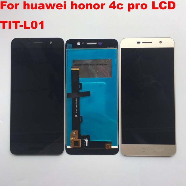 5.0'' Full LCD DIsplay + Touch Screen Digitizer Assembly Replacement For Huawei Honor 4C Pro TIT-L01 ; Gold ; New 100% Tested