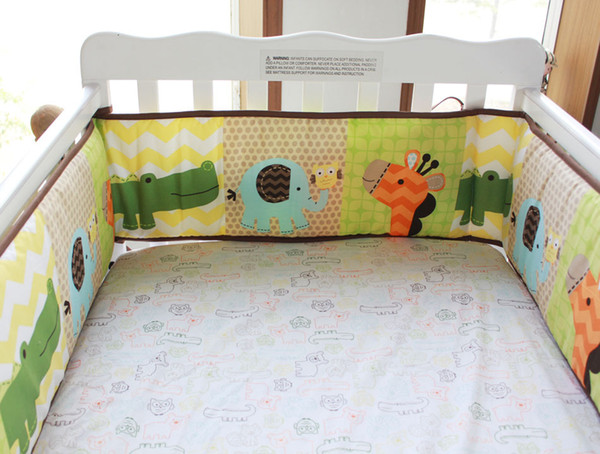 Hot Sale New Cot Bumper cotton Cartoon animais flower Crib Bumpers for newborn Baby protect bumpers set for infant boy girl