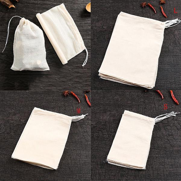 10 Teile / los 10x15 / 15x20 / 20x30 cm Leere Teebeutel Duftenden Teebeutel Mit String Heilen Siegel Filterpapier Für Kräuter Lose Tee BEUTEL