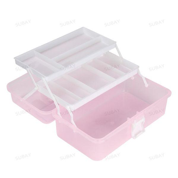 Fashion Nail Art Tool Box Multi Utility Storage 3 Layer Plastic Case Makeup Craft Manicure Salon Kit Accessories