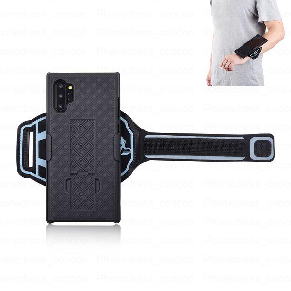Casos para Samsung Nota 10 Pro Caso De Pulso Sweatproof Anti-Skid Stripe Esporte Correndo GINÁSIO Ciclismo Braçadeira Bag (note10 Pro)
