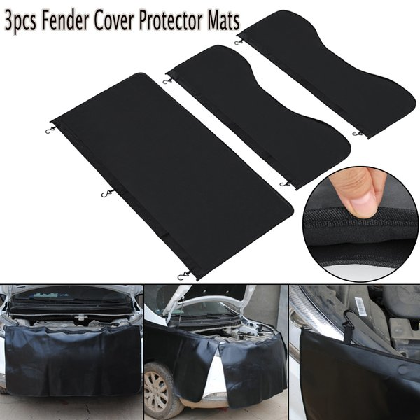 top popular 3pcs Universal Car Magnetic for Fender Cover Protector Mechanic Work Mat Auto Repairing Pad 2020