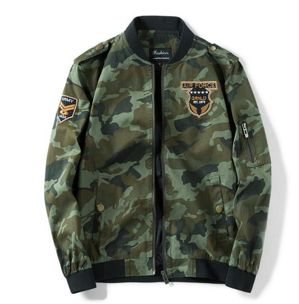 High-quality camouflage coat men's spring and autumn Korean version of the trend baseball clothing youth casual thin jacket