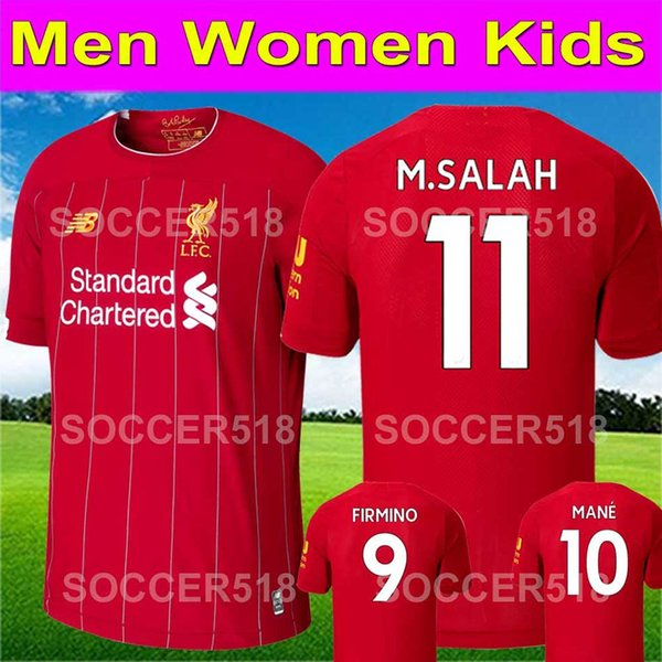19 20 New Salah red Soccer Jersey firmino 2020 Blackout limited MANE VIRGIL SHAQIRI football kit Shirt FIRMINO women kids sets uniform keita