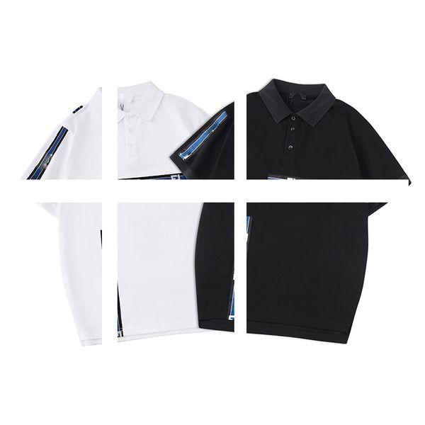 2019 men's designer Polo shirt couple embroidery lapel polo shirt ins short-sleeved t-shirt female summer new Korean version loose student c