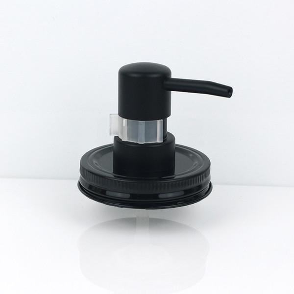 Black Plastic Mason Jar Soap Dispenser Pump Lid And Collar For Mason Liquid Lotion Pump With Clip Lock (not Including The Jar)