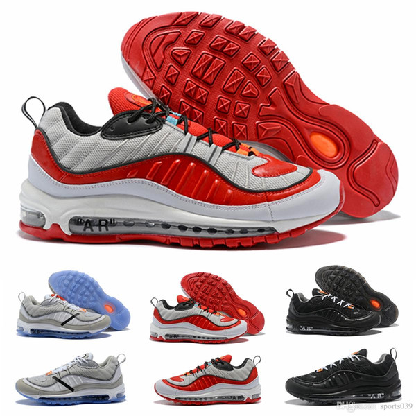 2019 Vibrant OG 98s Gundam Cone Men Running Shoes 98s Navy air sole Fluorescent Athletic Mens Womens Trainers Sports Sneakers Size 36-45
