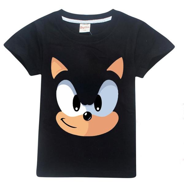 T-shirt das crianças Padrão de Impressão 3D Sonic The Hedgehog Meninos Meninas T-shirt Roupas de Verão Casual Crianças Top Tees Traje de Manga Curta
