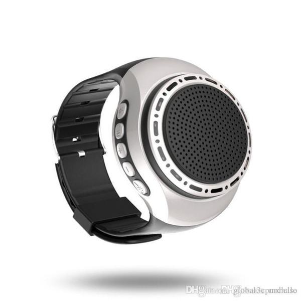 U6 Guarda senza fili Altoparlanti stereo Bluetooth Sport all'aria aperta Anti-sudore Nastro antipolvere Fm Radio Audio Mani anti-perso Altoparlanti orologio Bluetooth