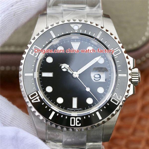 Venda quente Melhor N V9 CAL.3235 Movimento 28800 vph 43mm 126600 Sea-Dweller 904L Aço Vermelho MAR Mecânica Automática Mecânica Mens Watch Relógios