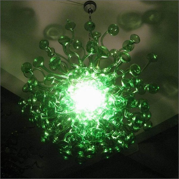 Personal Circle Crystal Hand Blown Murano Glass Chandeliers Lighting New Arrival Warranty Colorful Handmade Blown Glass Pendant Lights