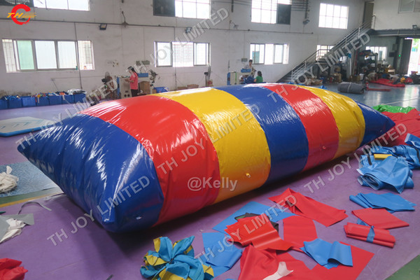 best selling 6x3m High Jump Launcher Inflatable Water Blob for Sale Inflatable Jumping Pillow Slide Water Blob Pillow with Floating Mat