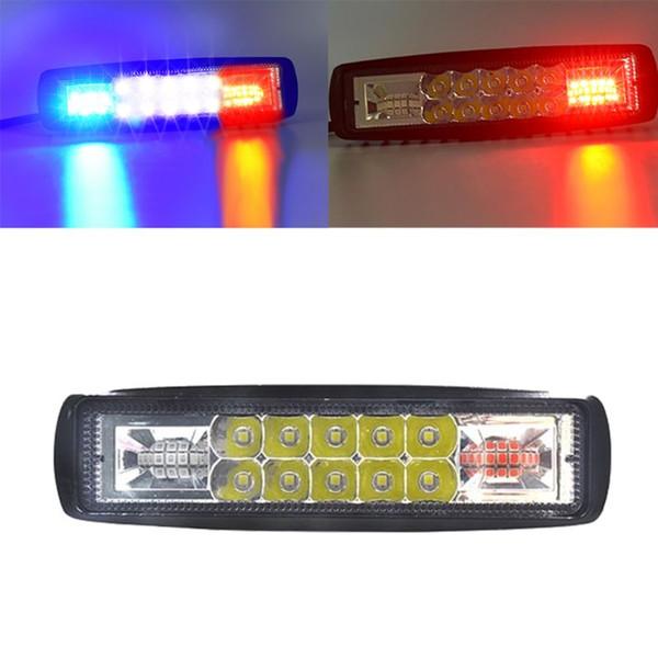 48 W Strobe Flaş Çalışma Işığı LED Işık Çubuğu Amber Beyaz Offroad Için 4x4 SUV Motosiklet Kamyon