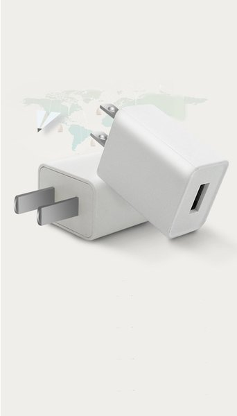 100V-240V USA charger 2 pin USB wall plug adapter with output 5V 1A for iphone samsung smart phones
