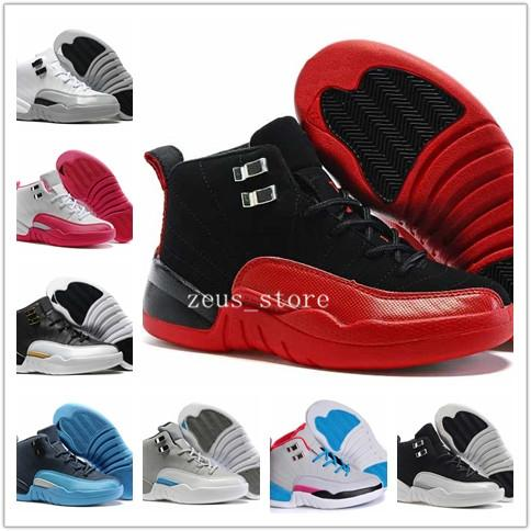 sale retailer c9eb5 dae6f 2019 Boys Girls 12 12s Kids Basketball Shoes Children 12s Gym Red Pink And  White Purple Blue Toddlers Birthday Gift With Shoe Box From Zeus_store, ...