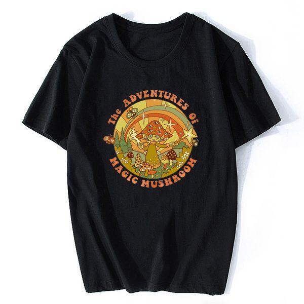 Давайте призовем демонов Санта-Топы Harajuku Summer My Imaginary Friends Футболка для мужчин Смешные черные рубашки Мужчины Хлопок с коротким рукавом