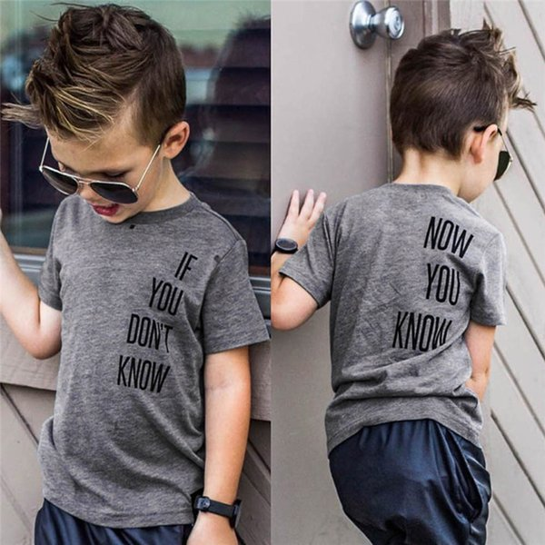 Summer Baby Boys Tops And Tees Toddler Infant Baby Boys Short Sleeve Letter Print T-Shirt Tops Baby Boy Clothes M8Y24