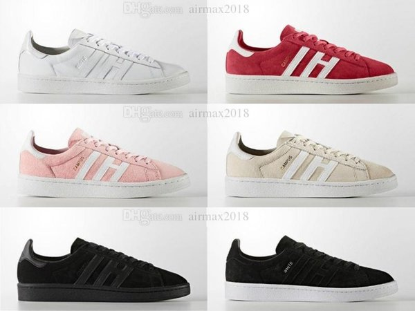 2018ert superstar Originals Campus Stan smith shoes for boy girl Hombres Mujeres con blanco rojo Negro Verde stansmith speedcross star shoes