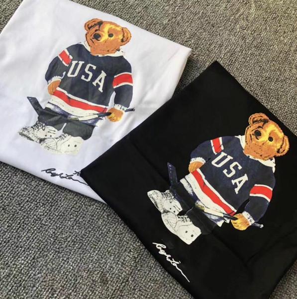 US-Größe Polo Bärnhemd Männer T-Shirt USA Sommer Kurzarm Standard EU UK Größenhemden S M L XL 2XL drop