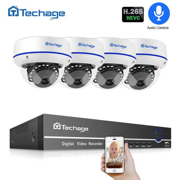 H.265 Security Camera System 4CH 1080P POE NVR Kit Indoor Dome Audio Record CCTV IP Camera IR Night P2P Video Surveillance Set