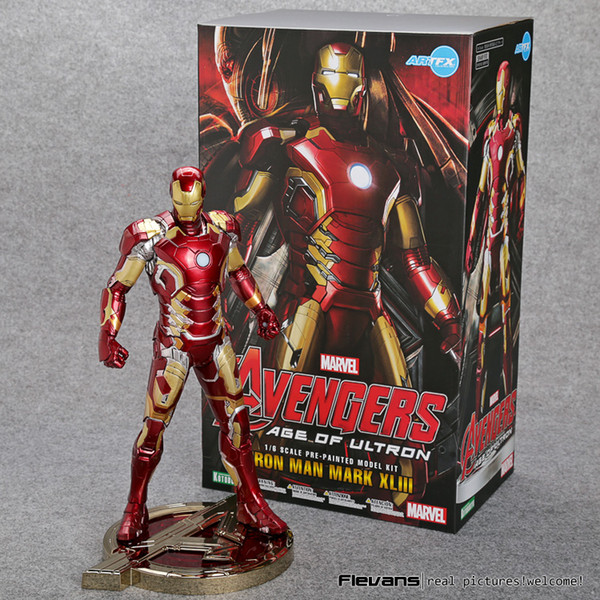 IRON MAN MARK XLIII 43 1//6 scala pre-painted figura MODELLO KIT CON LUCE LED