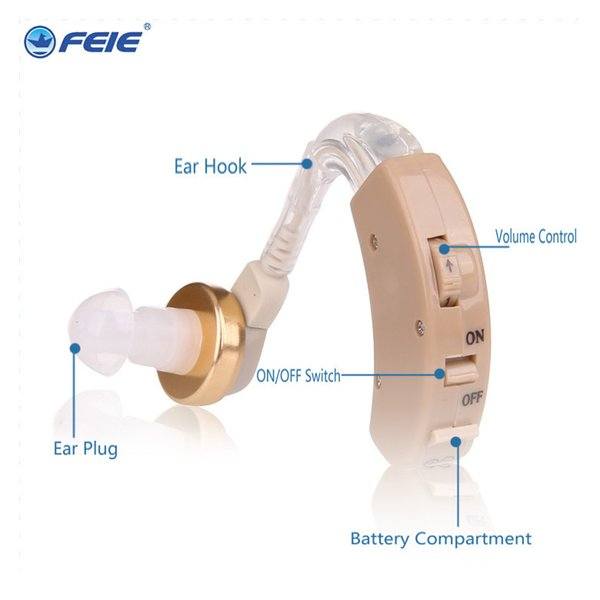 Aparelhos Auditivos Hearing Aids Audiphone Ear Device Sound Machine Loudly Amplifier for Deafness Audio Earphone S-8B